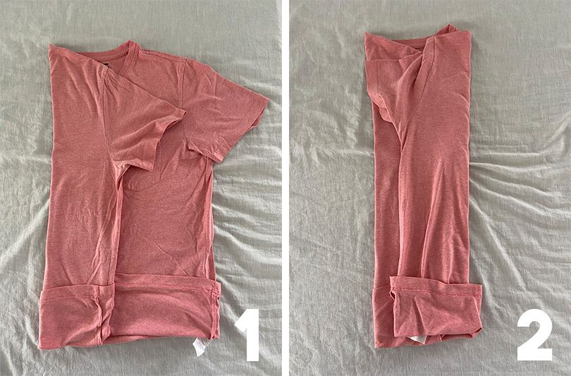 How To Fold Your Shirts For Traveling Compact Cylinder Style Fold
